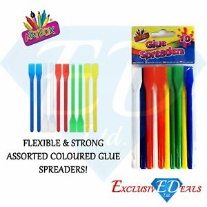 10-x-Glue-Spreaders-Plastic-Kids-PVA-Paste-Glue-Adhesive-Spatulas-Crafts