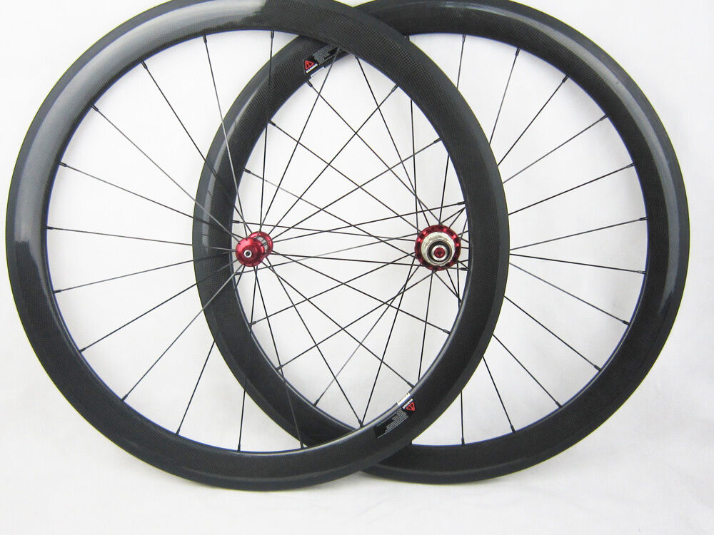 25mm width 50mm clincher carbon cycling wheels carbon straight pull hub