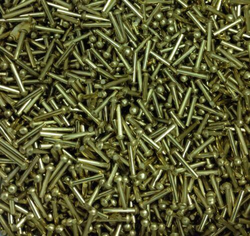 1//16 x 1//2 brass rivets round head snap head