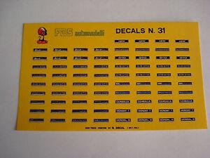 DECALS-KIT-1-43-TARGHE-KOENIG-FERRARI-DINO-208-GTO-MONDIAL-GEMBALLA-DECAL