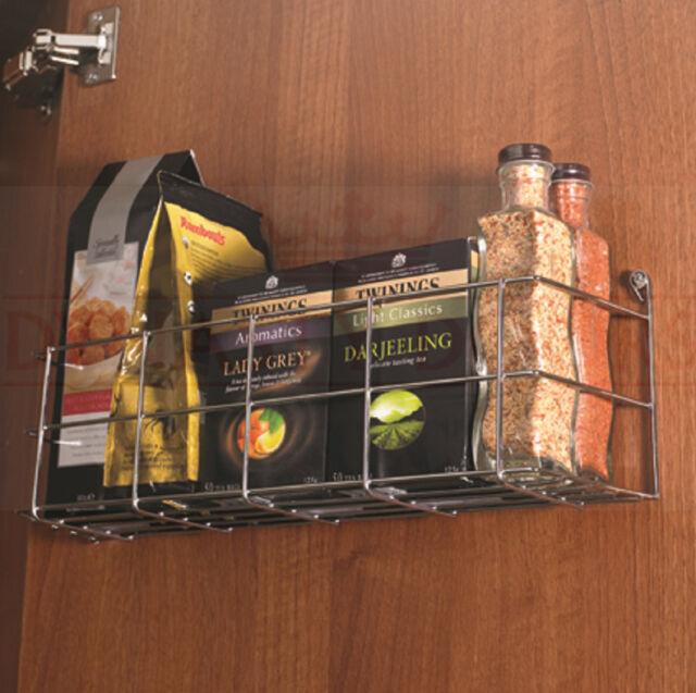 BOTTLE JAR SPICE RACK Kitchen Cupboard Storage 1 Tier Shelf Door Herbs CHROME & DYNASTY Chrome Single Tier Kitchen Cupboard Door Storage Rack | eBay
