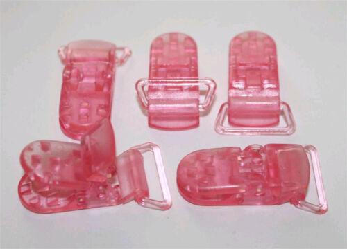 50 PLASTIC CLIPS PACIFIER D CLIPS BIB MEMO HOLDER CRAFT  U PICK COLOR