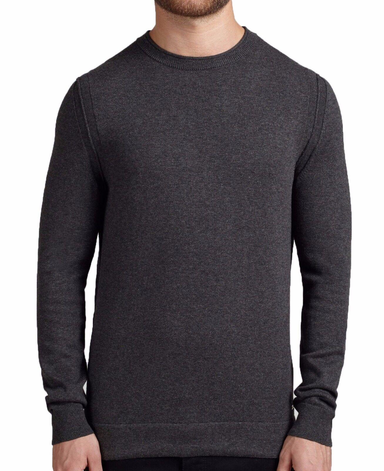 BOSS Orange Pullover in XL ( Regular Fit ) dark Grau SOFT COTTON-WOOL
