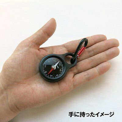 Troika Metal Keyring COMPASS with CARABINER COS10/BK