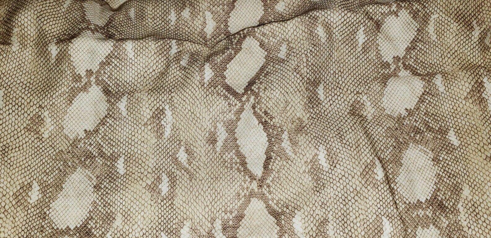 3pc Set Ralph Lauren Sellek Great Sands Full Queen Duvet Cover Shams Snakeskin