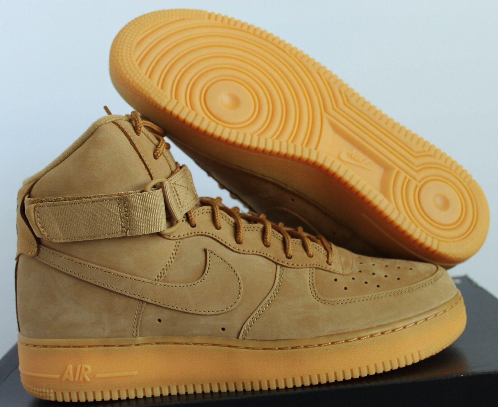 NIKE AIR FORCE 1 HIGH 07 LV8 WB FLAX-WHEAT-GUM Price reduction Cheap women's shoes women's shoes