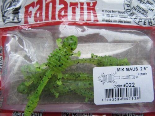 "made in Ukraine!! NEW 2017 Fanatik MIK MAUS 1.6/"",2/"",2.5/""-soft eatable lure!"
