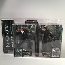 LOT 2 McFarlane Matrix Series 2 Agent Smith Neo Action Figure Figurines 2003 New