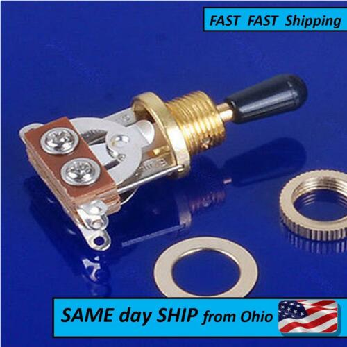 Custom Guitar Part Gold Plated Toggle Switch universal most guitars 3 way