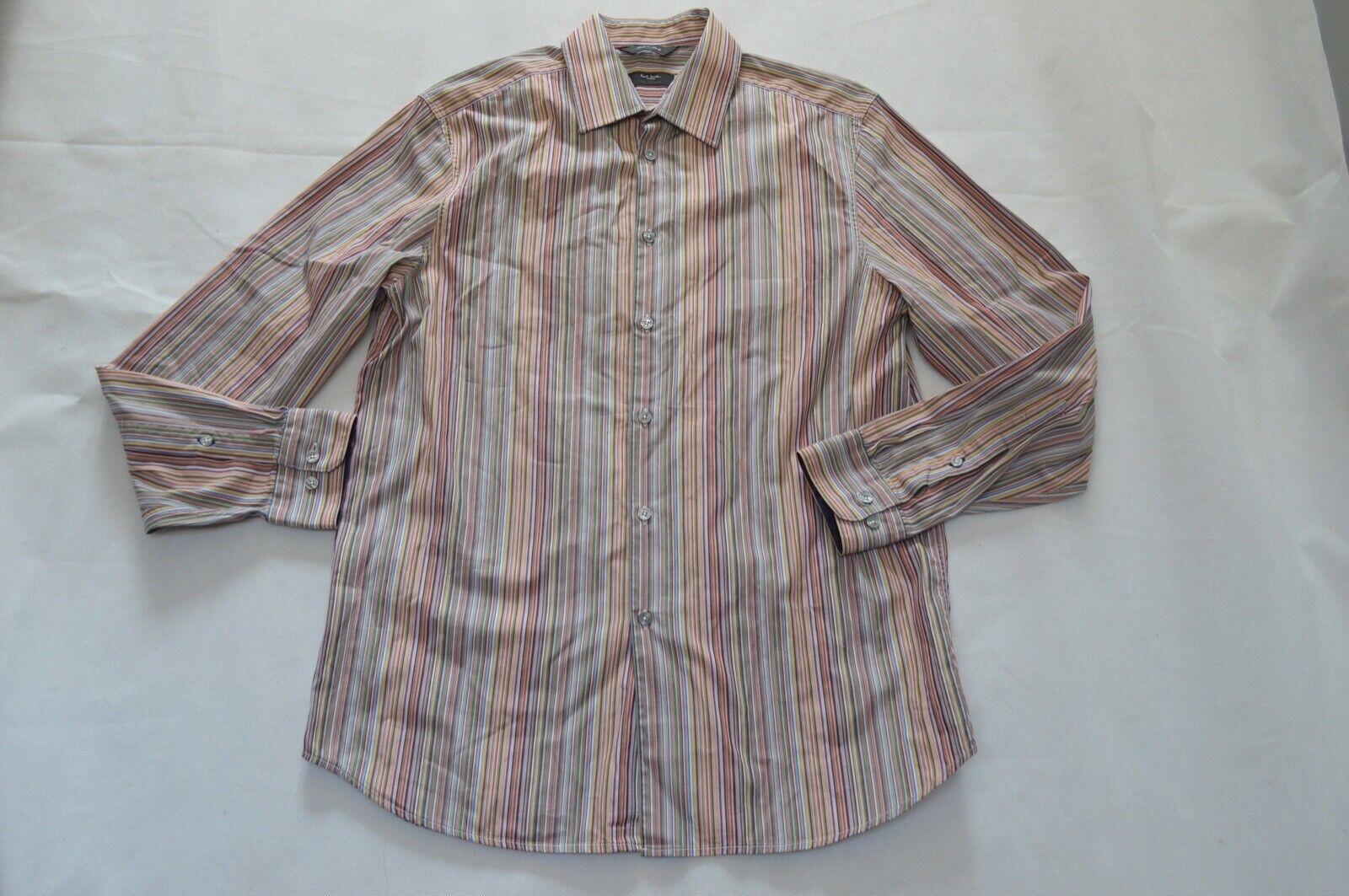 Paul Smith Signature Multicolourot Stripe Formal Button Shirt Mens 16 41 S M