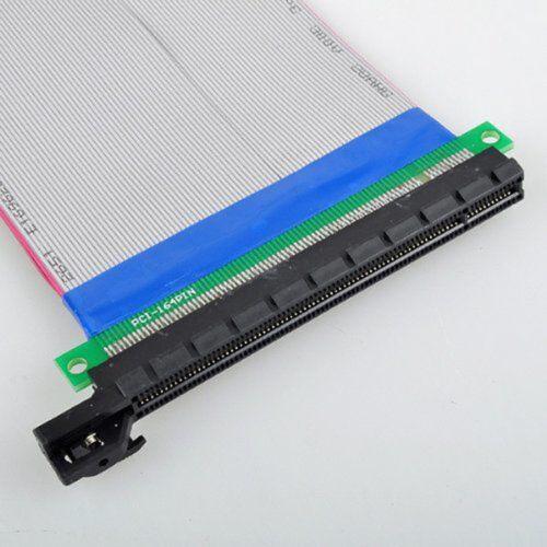 Flexible Single Slot PCI-Express 16X Riser Card Extender Extension Ribbon Cable