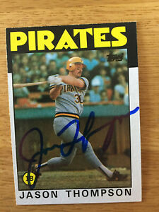 Pittsburgh Pirates Jason Thompson signed 1986 Topps card
