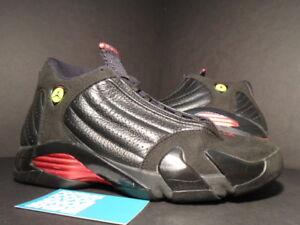 68c90e9bd9e Nike Air Jordan XIV 14 Retro BLACK RED BRED LAST SHOT PLAYOFF 311832 ...