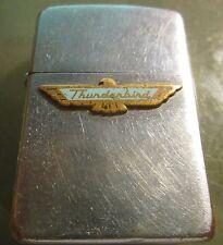 Vintage RARE FORD THUNDERBIRD  ZIPPO Lighter PAT. 2517191 NICE ADVERTISING