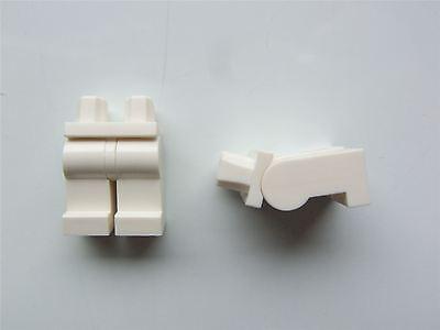 parts & Pieces Freundschaftlich 2 X Lego White Minifigure Lower Body Legs 9327