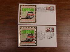 2 x FDC PREMIER JOUR PHILATELIQUES FRANCE 01/04/1979 EXPORAIL 79 CANNES