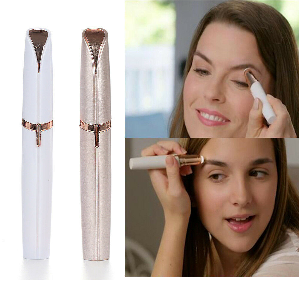 Mini Electric Finishing Eyebrow Trimmer Brows Pen Face ...
