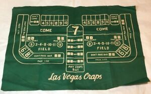 Craps-Dice-Gaming-Green-Felt-Table-Mat-Game-Las-Vegas-Craps-Vintage