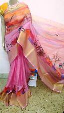 Pink Painted Manipuri kota Cotton Saree
