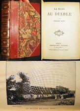 1905 GEORGE SAND LA MARE DU DIABLE LEATHER BINDING