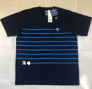 NEW-UNIQLO-T-Shirt-Rockman-Blue-XL-Nintendo-Famicom-Game-Classic-Pixels