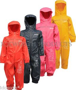 6c2381f1b919 Details about REGATTA PUDDLE III IV ALL IN ONE WATERPROOF SUIT CHILDRENS  KIDS CHILDS BOYS GIRL