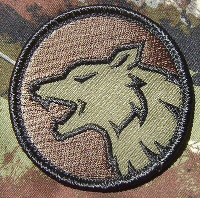 WOLF HEAD FIERCE DOG K9 MILITARY TACTICAL FOREST VELCRO® BRAND FASTENER PATCH