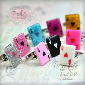Ace-Of-Heart-Adjustable-Ring-Alice-in-Wonderland-Style-Various-Colours