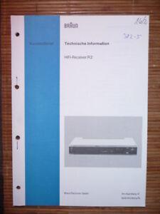 original Geschickte Herstellung Tv, Video & Audio Obligatorisch Service Manual Für Braun R 2