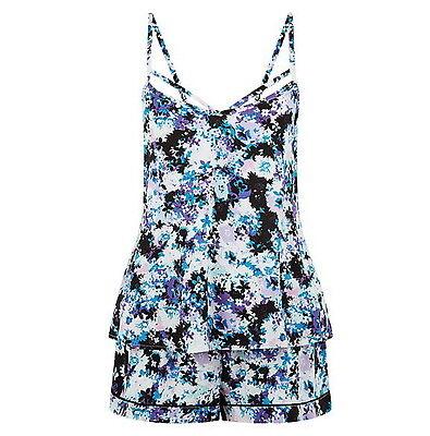 Short Pyjamas PJS Women's Ladies Multi Floral Design UK Size's 10  12  18  NEW