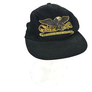 d7d6d18095e Vintage 1991 Bald Eagles 29th Annual Meeting Black Snapback Hat Cap ...