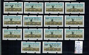Briefmarken Vorsichtig Briefmarken Berlin Automatenmarken 1987 14 Verschiedene Postfrische Klar Und Unverwechselbar