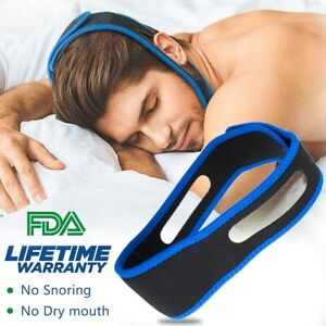Details about Stop Snoring Chin Strap, Comfortable Natural Snoring Solution  Snore Stopper