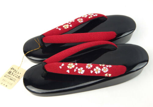 New w/ Tag Japan Traditional Japanese KIMONO Geisha Slippers Shoes Size 9