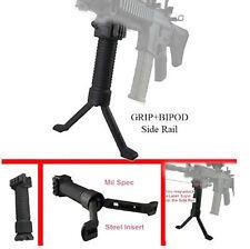 Polímero 20mm Rifle De Airsoft ampliar bípode Negro con Inserto de acero enviar las piernas