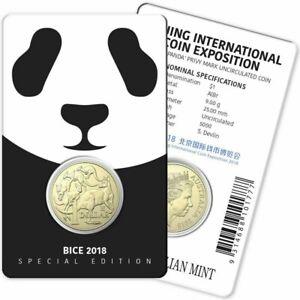 2019 $1 Panda Privy Mark Unc Coin-Beijing International Coin Exposition Special