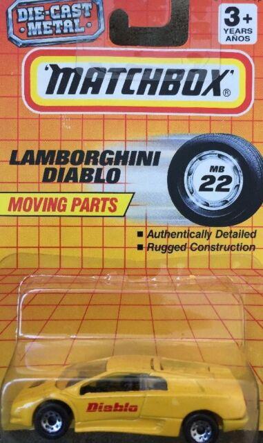 MATCHBOX LAMBORGHINI Diablo Yellow Car Moving Parts MB 22