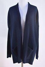 MICHAEL KORS Women's Navy Blue Open Cardigan Sweater Sz S