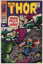 Thor #149 F+ 6.5 Loki The Wrecker Stan Lee Jack Kirby Art!