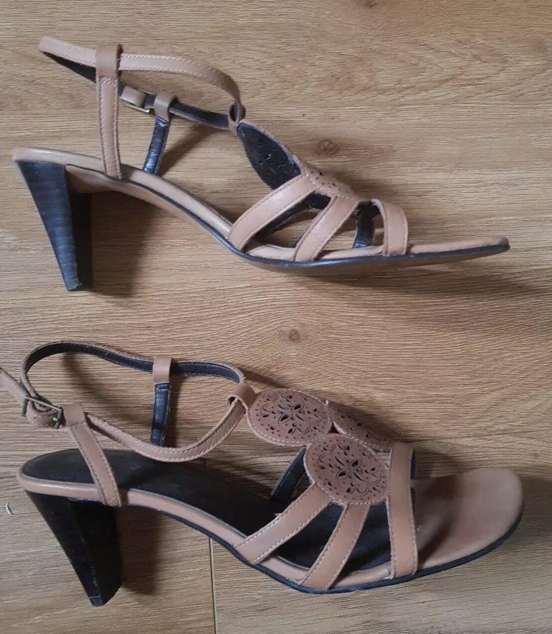 CLARKS - Ladies smart leather sandals , size 4.5