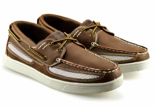 Mens New Casual Lace Up Boat Deck Mocassin Designer Loafers Driving Shoes Size