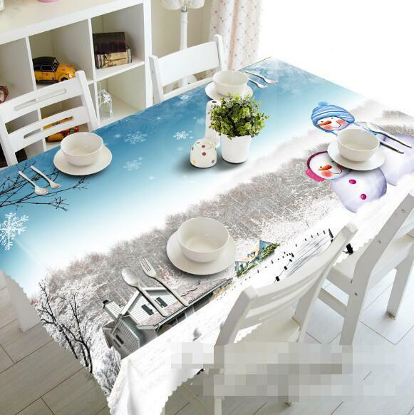 3D Snow Hut 52 Tablecloth Table Cover Cloth Birthday Party Event AJ WALLPAPER AU