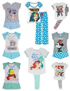 Ladies-Pyjamas-Set-Short-or-Long-Styles-Size-8-22-Wonder-Woman-Batgirl-Princess