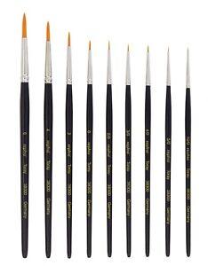 Toray-Kunsthaar-Pinsel-Groesse-10-0-bis-6-fuer-Aquarellfarbe-Acrylfarbe-Nail-Art