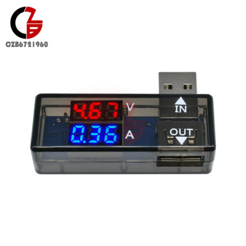 DC 5 V Chargeur USB Testeur Affichage DEL Voltmètre ampèremètre Voltage Current Meter