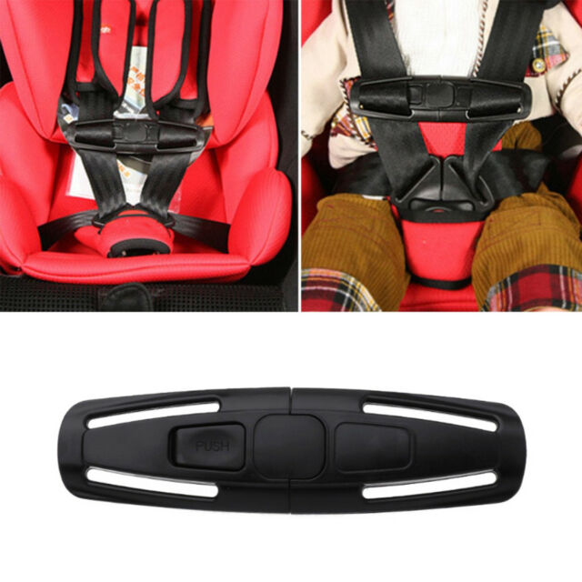2X Car Baby Safety Seat Strap Belt Harness Chest Clip Child Safe Lock Buckle