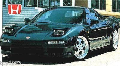1994 Broschüre 1992,1993 SchöN Honda Nsx Type R Spezial Folie