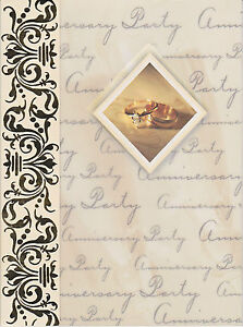 Details About Elegant Wedding Anniversary Invitations Cards Formal Invites Celebration New