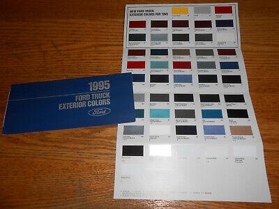 1995 Ford Truck Exterior Colors Paint Chips Brochure 95 F Series Bronco Vans Ebay