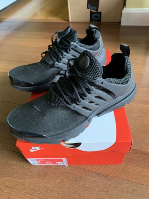 Nike Air Presto Triple Black Running Shoes Mens Sz S (9-10) NIB